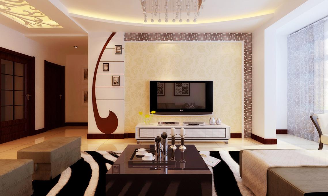 3492 张现代简约 客厅背景墙 装修效果图