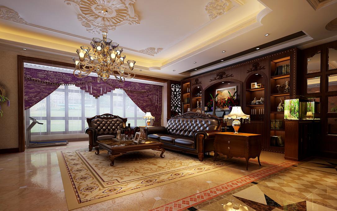美式装修效果图大全2013图片_美式房屋家居装修效果图图片