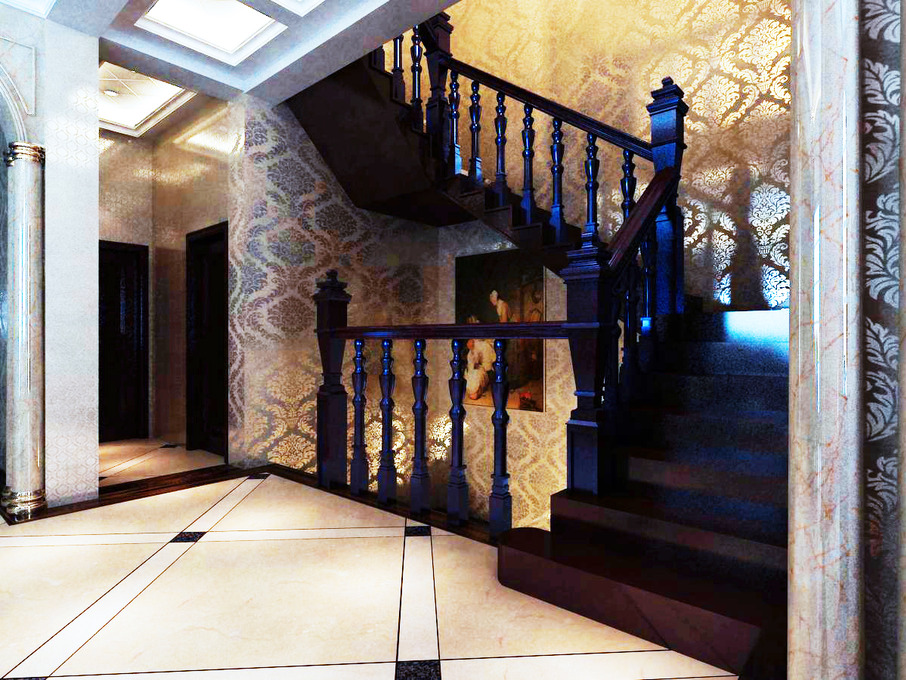 40张欧式别墅楼梯装修效果图