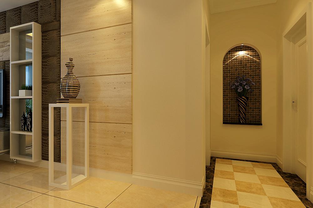141㎡欧式三居品位卓越 标签:玄关简欧 简欧风格玄关装修效果图 &#98图片