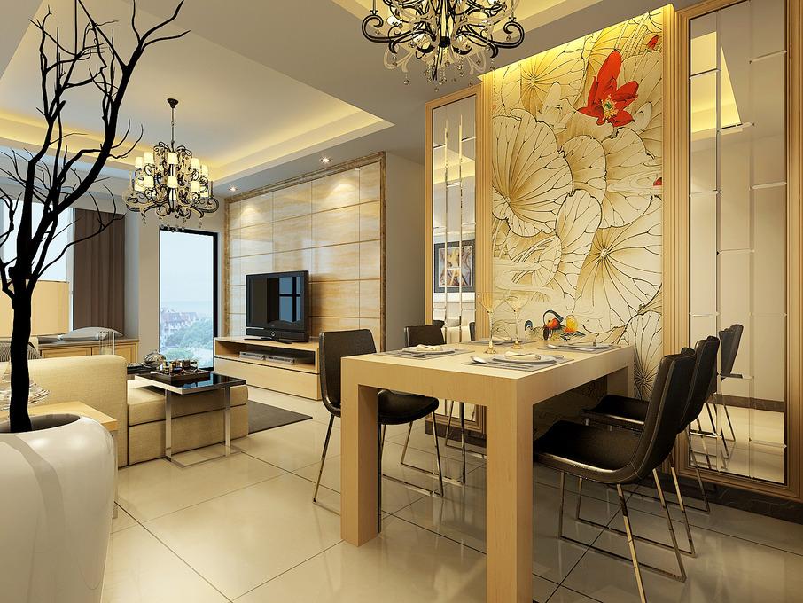 807张现代简约餐厅空间墙装修效果图景观设计背景v餐厅图片