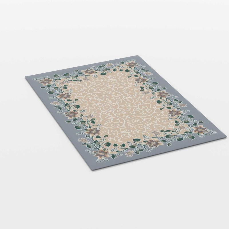 美式花纹地毯