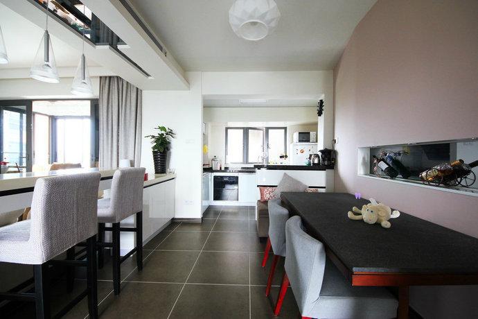 89平简约4房2厅厨房餐厅装修效果图