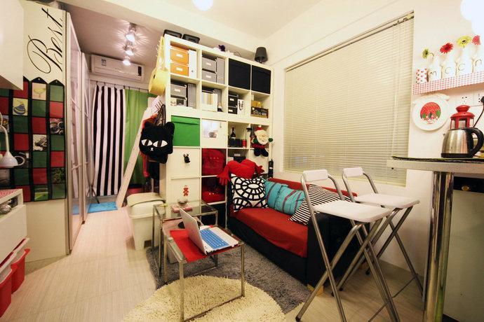 2万装20平一室一厅混搭客厅装修效果图