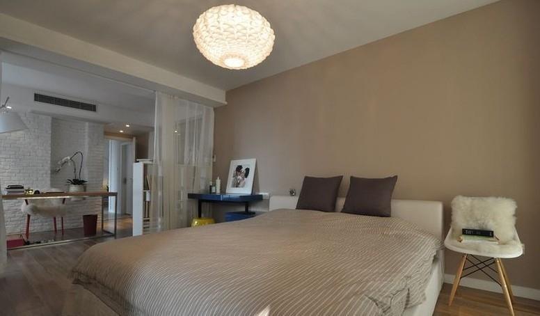 极简卧室设计隔断小户型客厅卧室隔断图片10