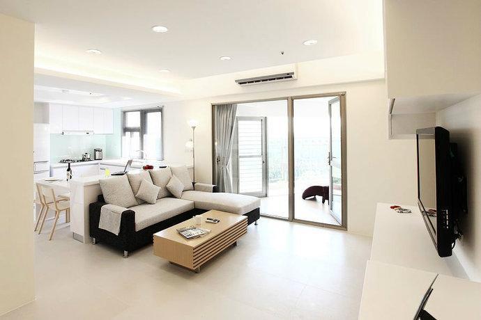 客厅 现代简约清新客厅装修效果图查看原图 电视背景墙直接墙纸