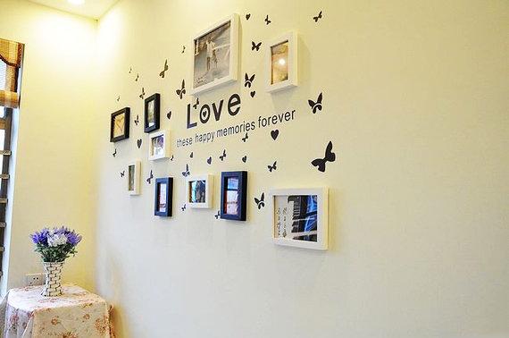 幼儿园走廊墙面相框展览