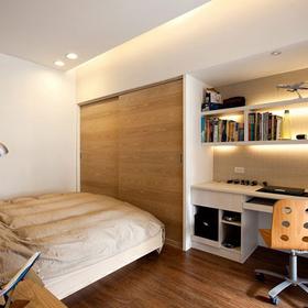 书房卧室巧合体 小户型书房设计图片