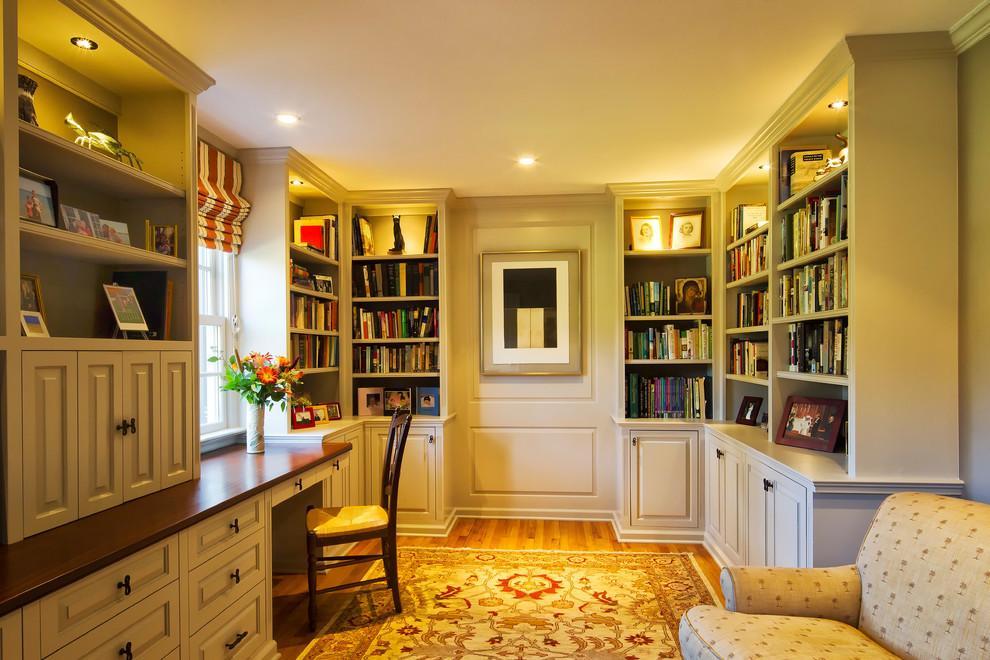 两点透视室内手绘图书房