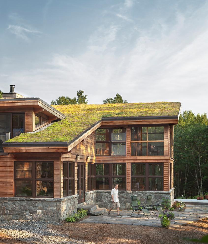 别墅屋顶花园设计图装修效果图_微明网图片