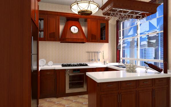 欧式厨房1客厅,室内,厨房,卫生间等装修效果图大全图片