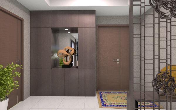现代偏中式客餐厅客厅,室内,厨房,卫生间等装修效果图