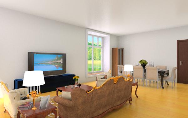 设计图分享 农村房子装修两层设计图  农村房子1楼客厅,室内 宽600×