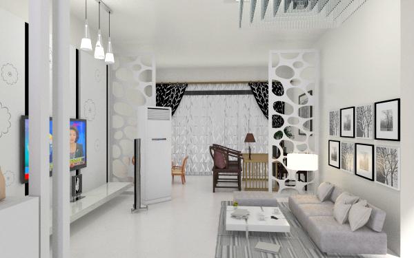 现代简约开放式客厅,室内,厨房,卫生间等装修效果图