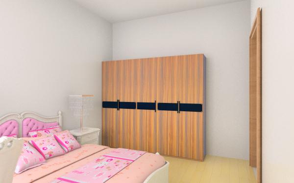 次卧墙柜装饰图-床柜子一体式图片-儿童房柜墙-孩子图片