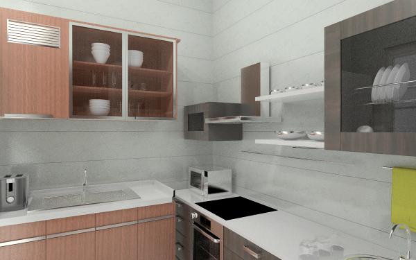 59㎡客厅,室内,厨房,卫生间等装修图