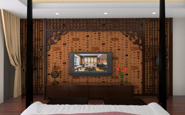 中式风格主卧客厅,室内,厨房,卫生间等装修效果图大全