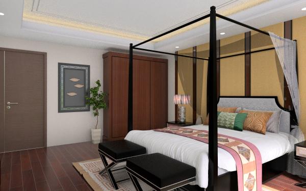 黑桃木的卧室家具套装