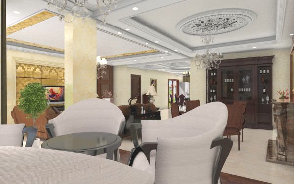 欧式客餐厅客厅,室内,厨房,卫生间等装修效果图大全