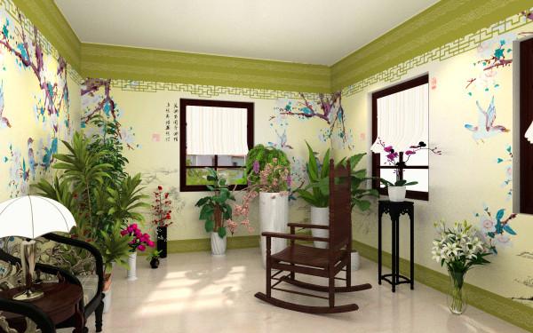 花房室内手绘图