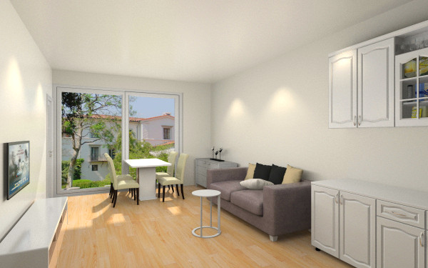 单身宿舍客厅,室内,厨房,卫生间等装修效果图大全