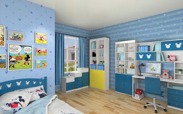 美式米奇儿童房客厅,室内,厨房,卫生间等装修效果图