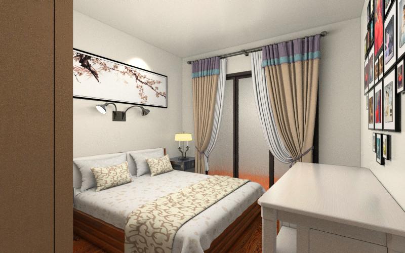 客厅、主卧手绘效果图