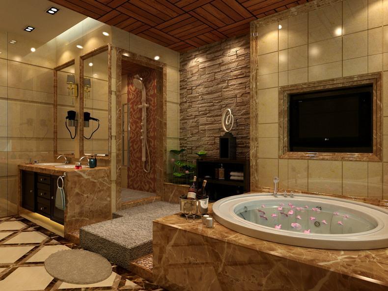整体浴室装修效果图大全2013图片_整体浴室房屋家居图