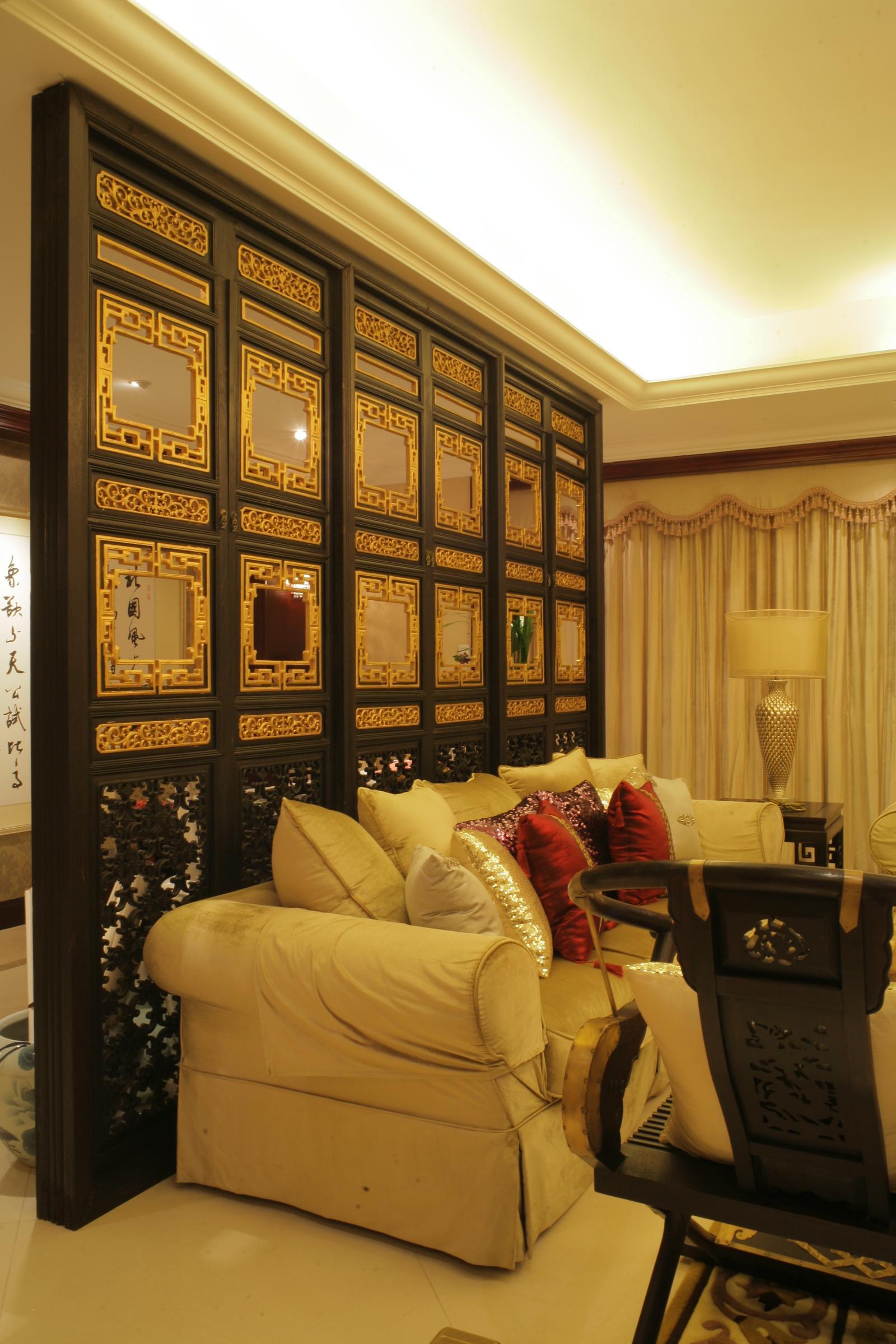 60 张中式客厅窗帘装修效果图图片