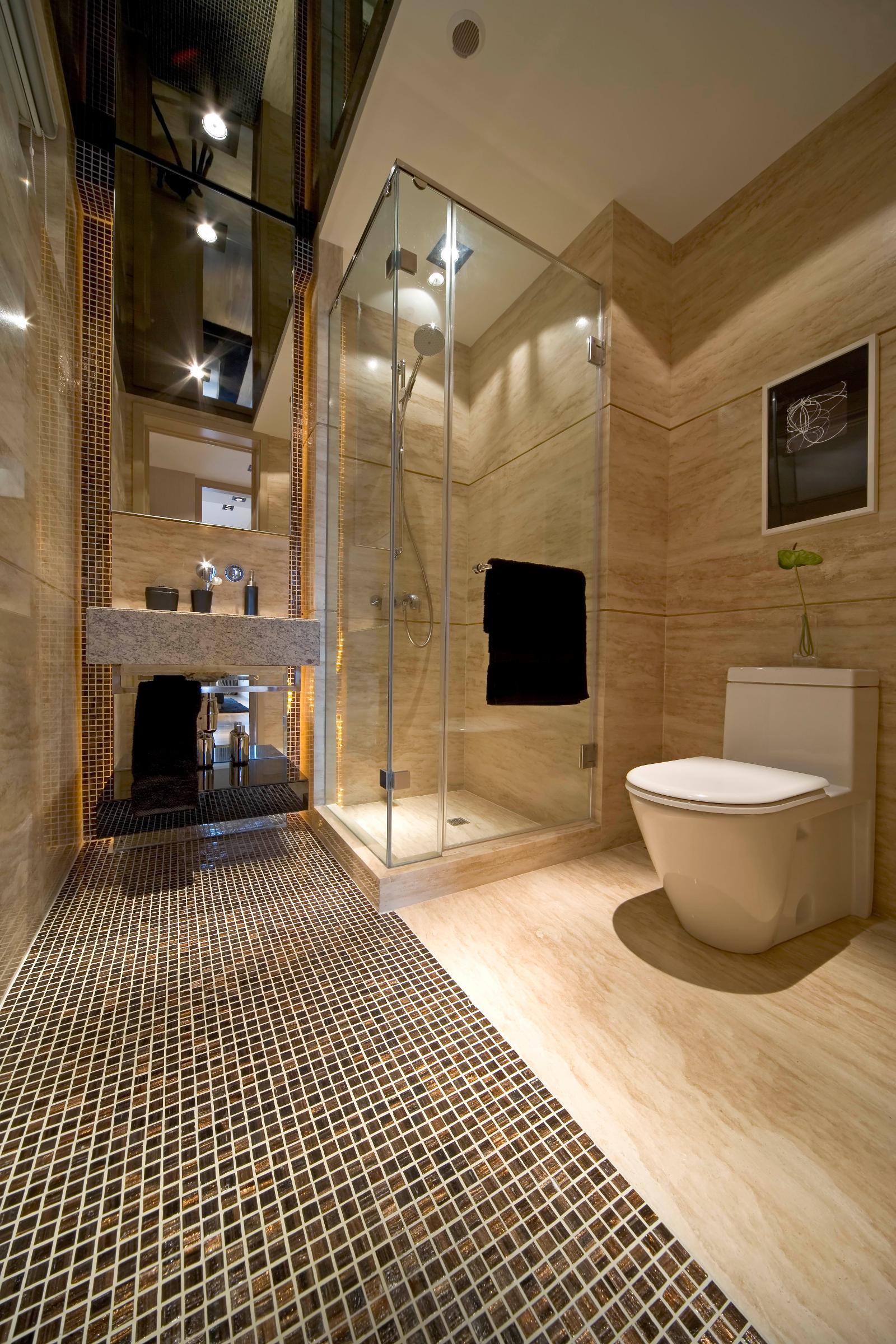 卫生间设计效果图 卫生间手绘效果图 洗手间装修效果图