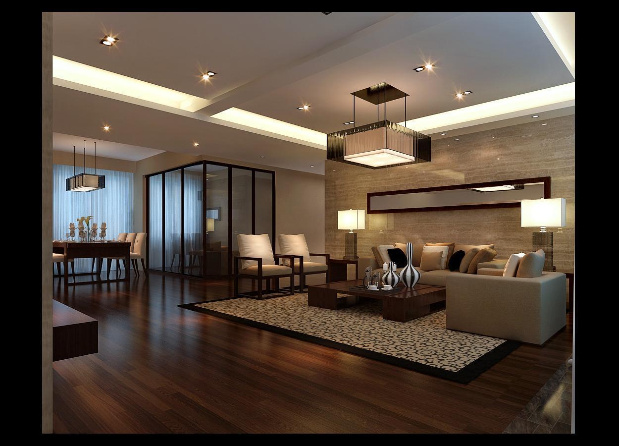 现代客厅--高清效果图